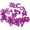 scrapbook písmenka fialová set