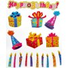scrapbook nálepky narozeniny