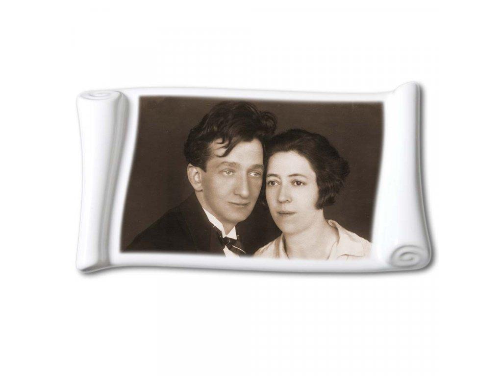 foto na hrob porcelán pergamen