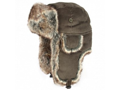 ušanka Corduroy Trapper Hat Brown