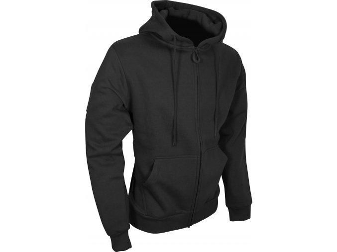 Tac Zipped Fleece Hoodie Black