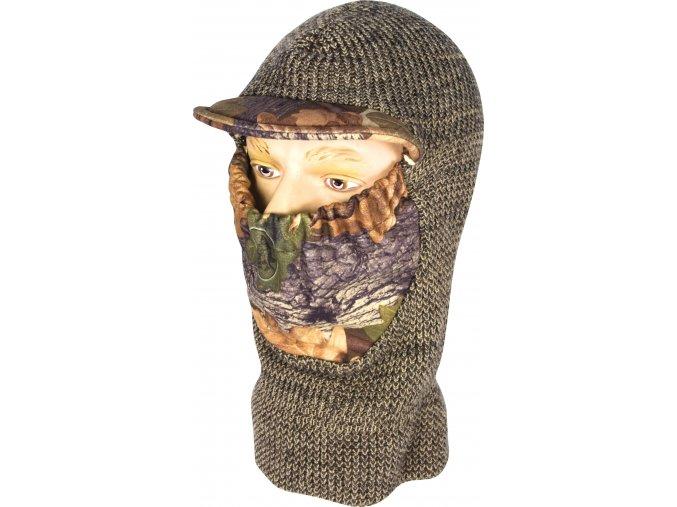 teplá pletená kukla s maskováním