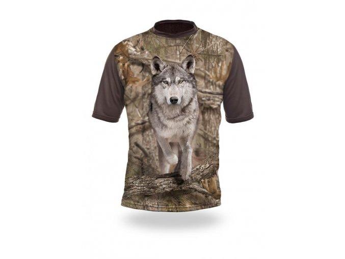 3D triko maskovací vlk
