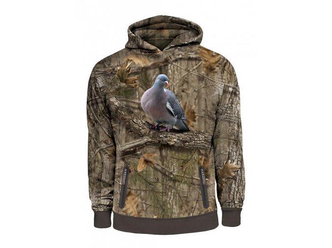 mikina 3d potisk holub