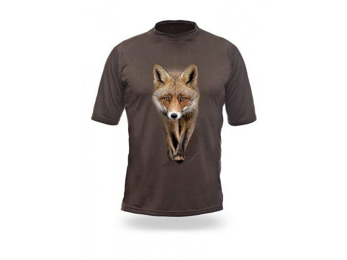 3D triko s potiskem dlouhý rukáv jednobarevné liška