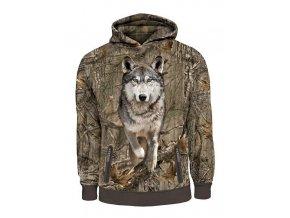 mikina 3d potisk vlk