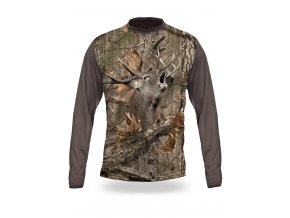 3D triko s potiskem dlouhý rukáv maskované jelen