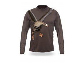 3D triko s potiskem dlouhý rukáv jednobarevné husa