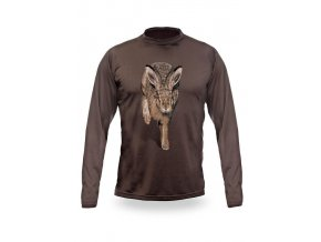 3D triko s potiskem dlouhý rukáv jednobarevné zajíc