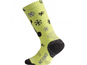 dětské ponožky žluté merino ponozky junior wjs 689