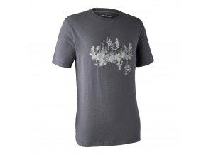 panske outdoorove triko ceder sedomodre
