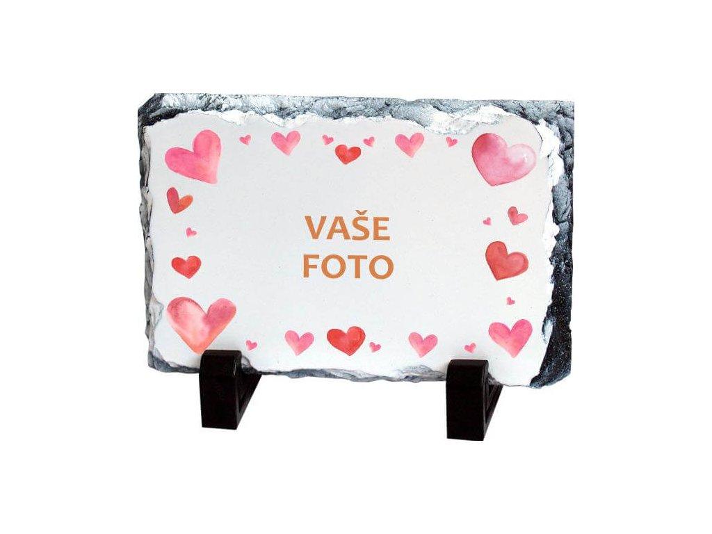 Foto kameň rámik VALENTÍN 3   19x14 cm FOTO pošta
