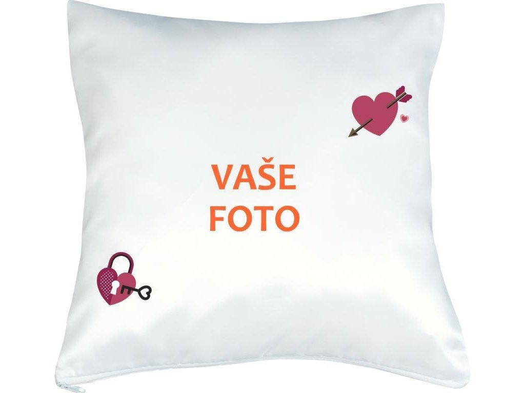 Obliečka s fotkou rámik VALENTÍN 1  40x40 cm FOTOpošta