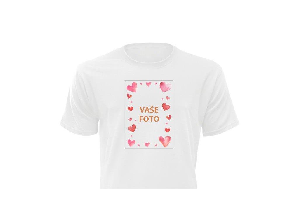 Tričko s fotkou rámik VALENTÍN 3   Unisex strih FOTOpošta