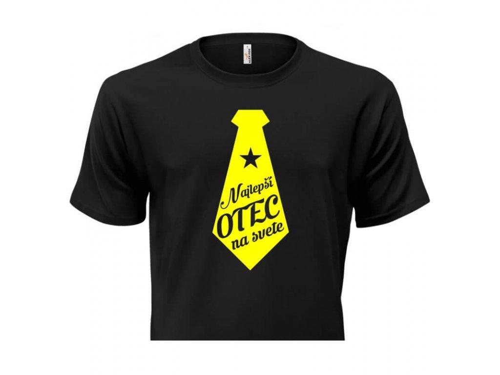 pánske tričko rámik • Najlepší otec čierne tričko titulka