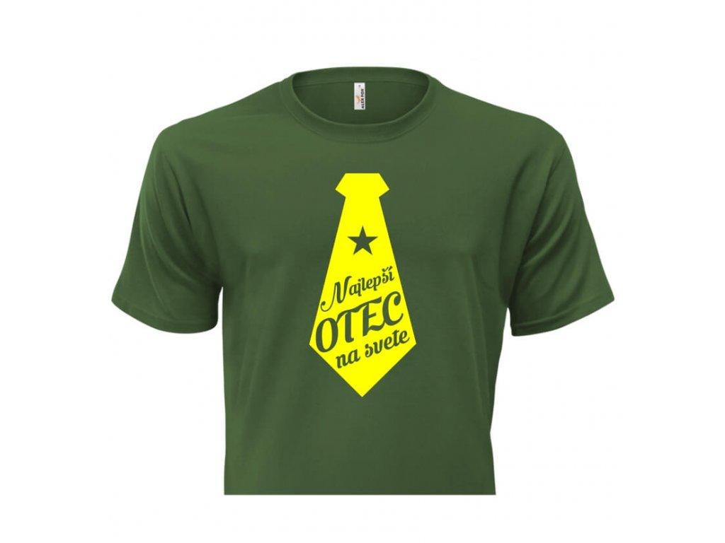 pánske tričko rámik • Najlepší otec zelené tričko titulka