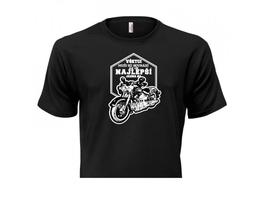 pánske tričko rámik • Motorkár čierne tričko titulka