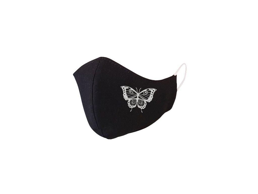 Motýľ.silver.rúško 1585 removebg preview