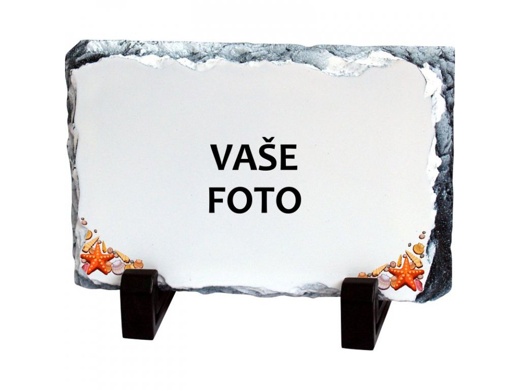 Foto kameň rámik DOVOLENKA 19x14 cm FOTOpošta