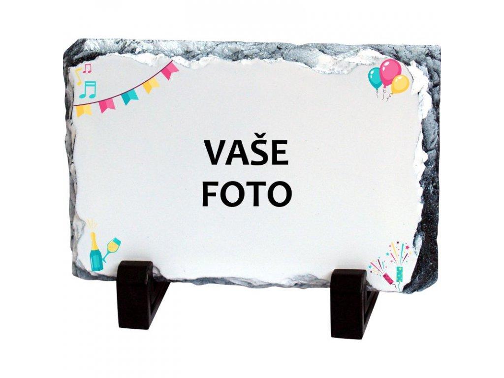 Foto kameň rámik PÁRTY 19x14 cm FOTOpošta