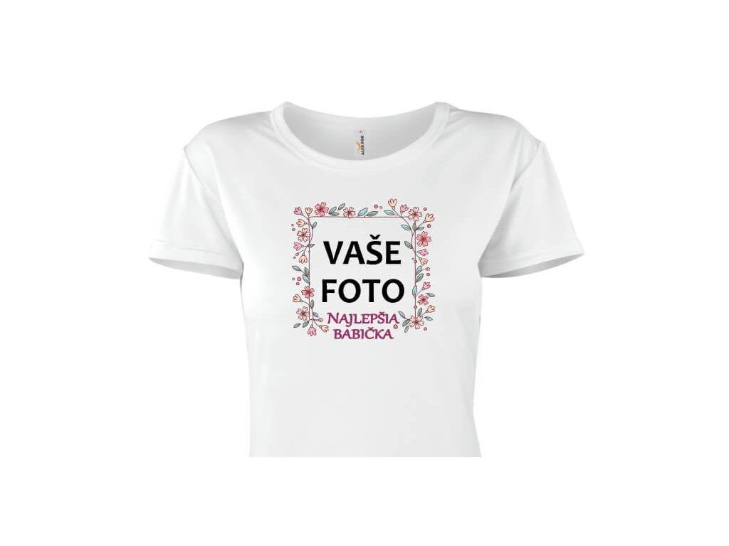tričko dámske•rámik NAJ BABIČKA 1•titulka