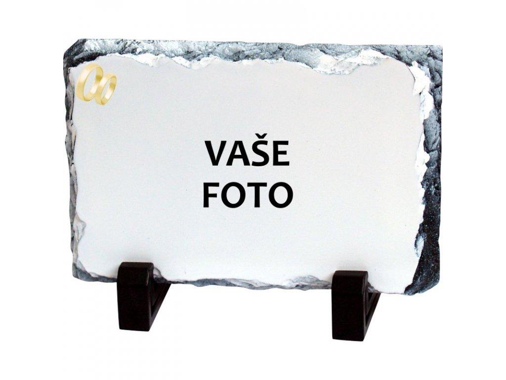 Foto kameň rámik SVADBA 1 19x14 cm FOTOpošta