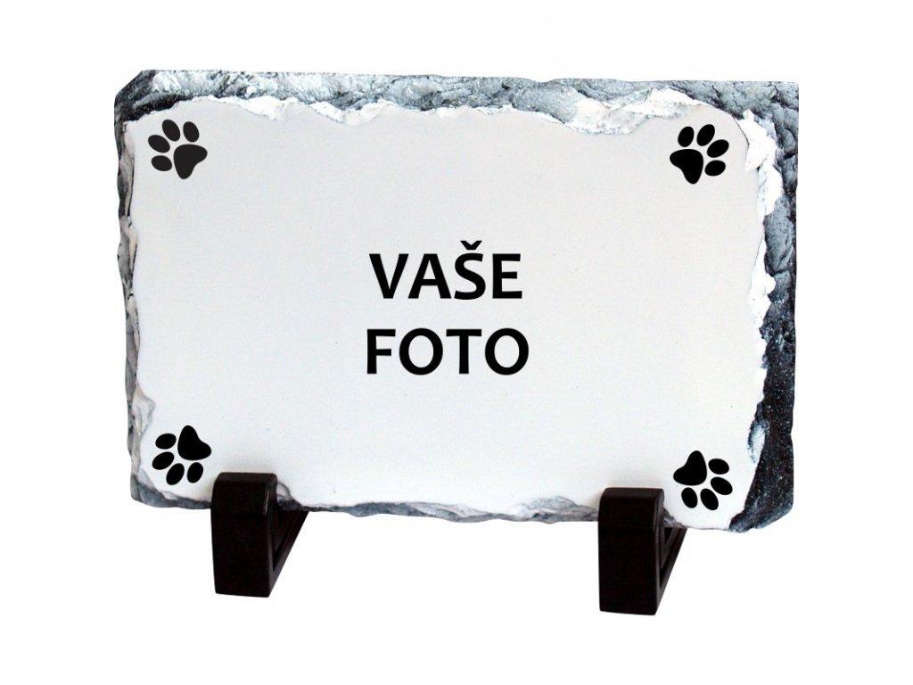 Foto kameň rámik PES 19x14 cm FOTO pošta