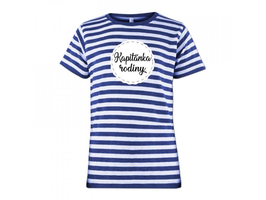 Detské tričko námornícke Kapitánka rodiny