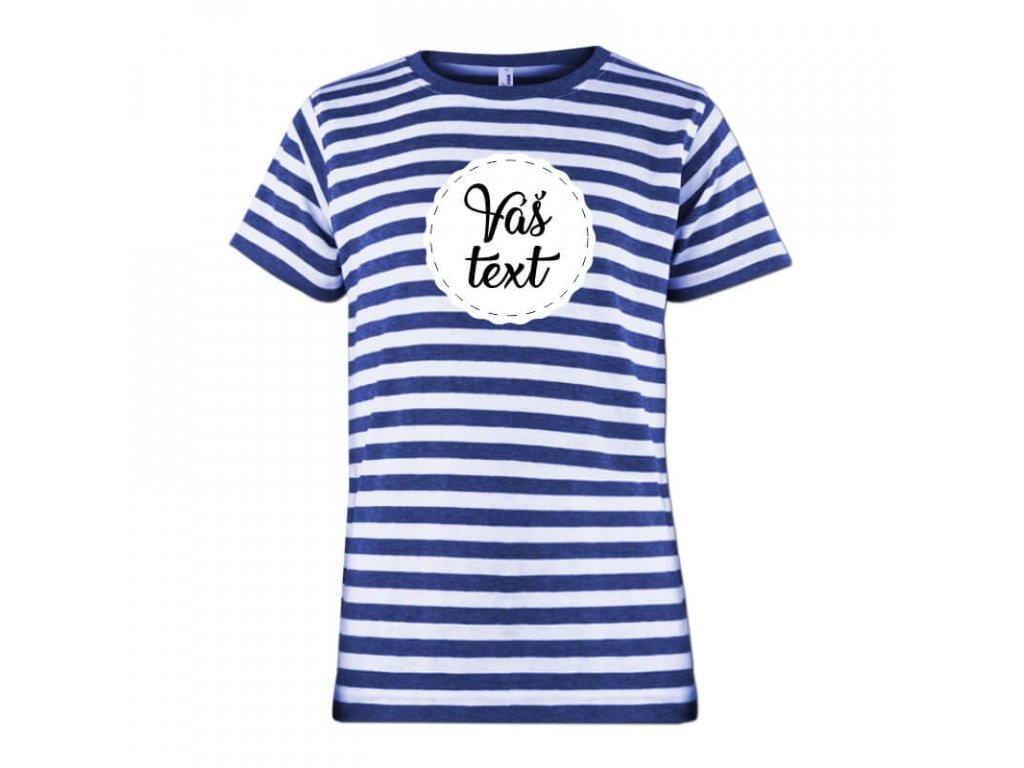 namornícke tričko • motív Váš text•1 tričko jpg