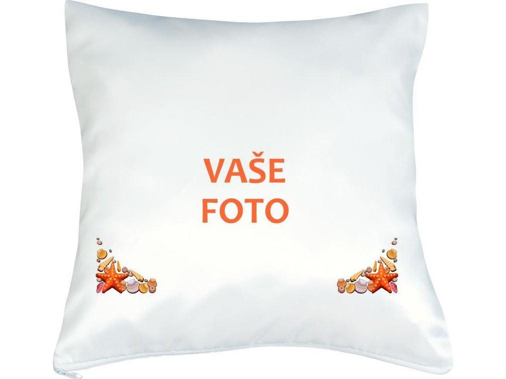 Obliečka s fotkou rámik DOVOLENKA 40x40 cm FOTOpošta