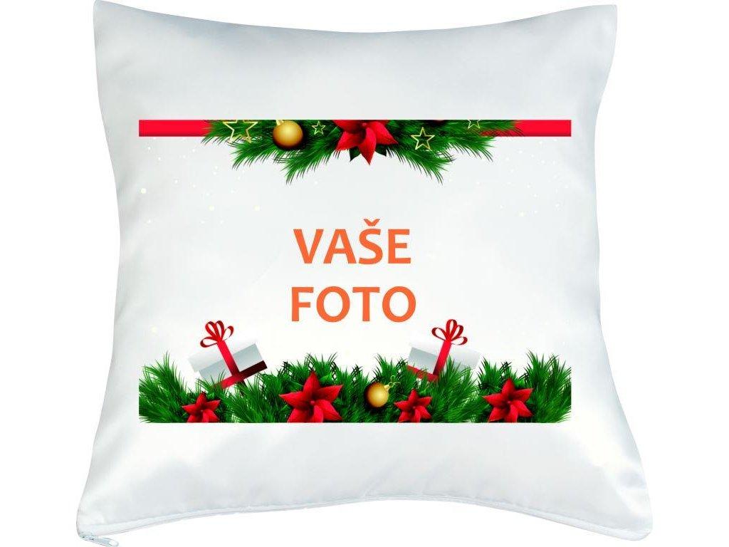 Obliečka s fotkou rámik VIANOCE 40x40 cm FOTOpošta