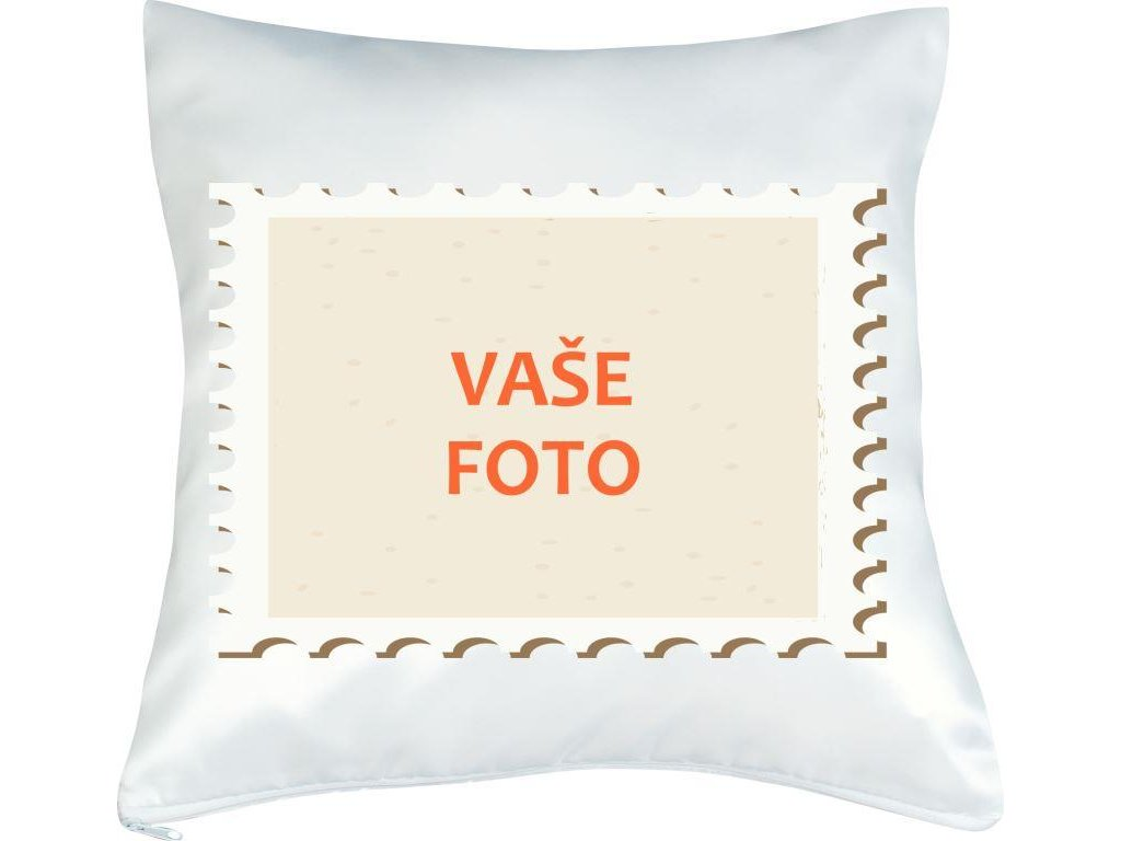 Obliečka s fotkou rámik ZNÁMKA 40x40 cm FOTOpošta