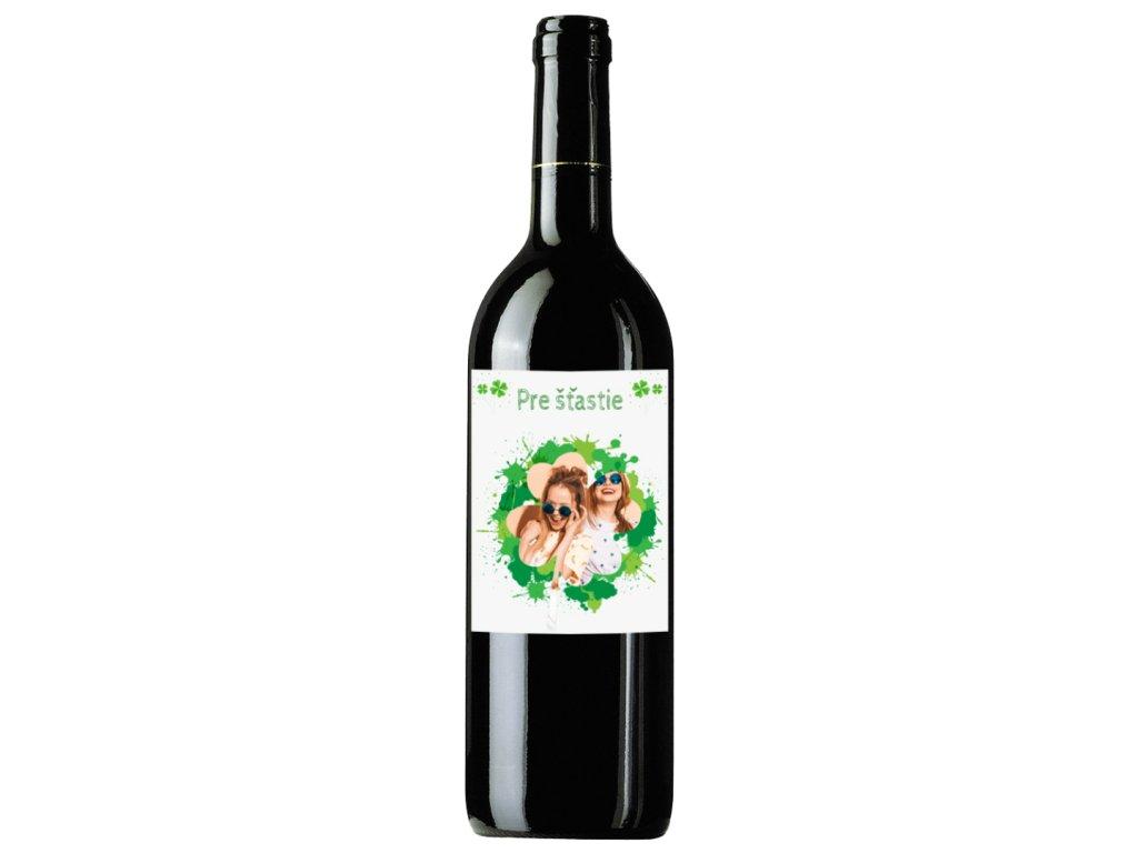víno s fotkou štastie 1