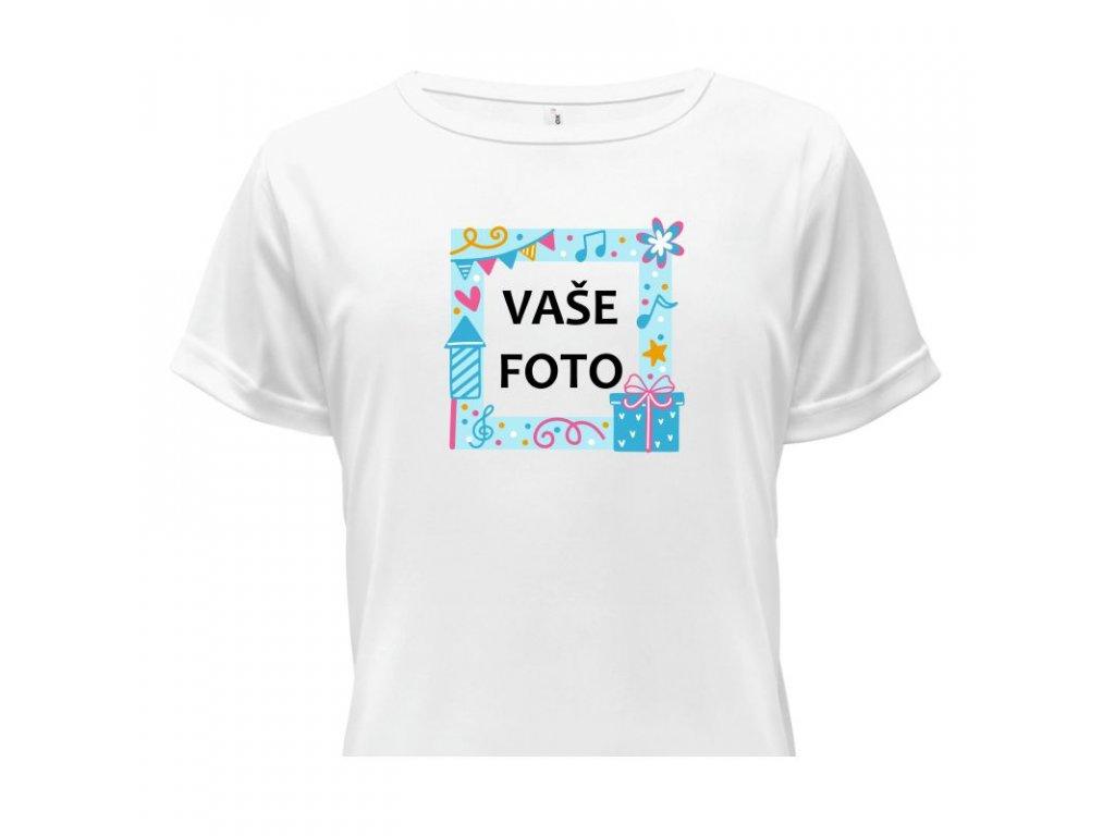 detské tričko rámik Oslavička modrá•1 titulka