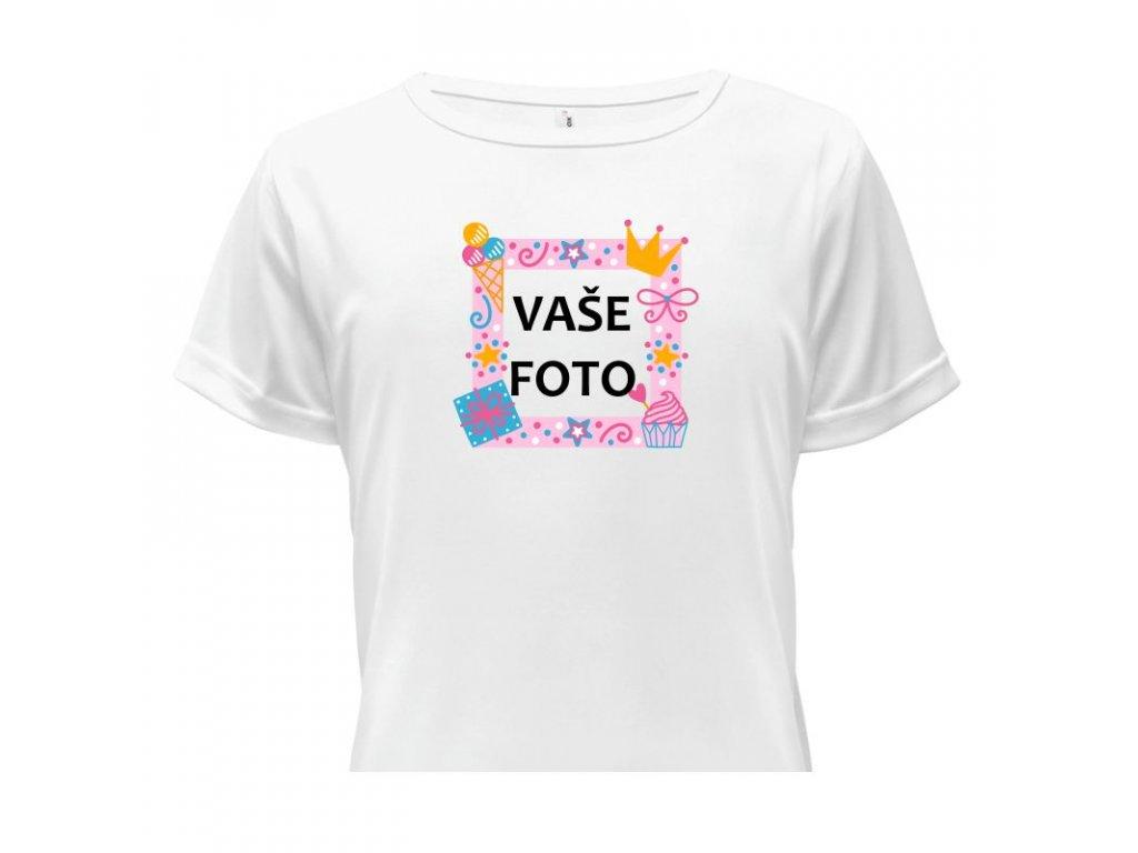 detské tričko rámik Oslavička ružová•1 titulka