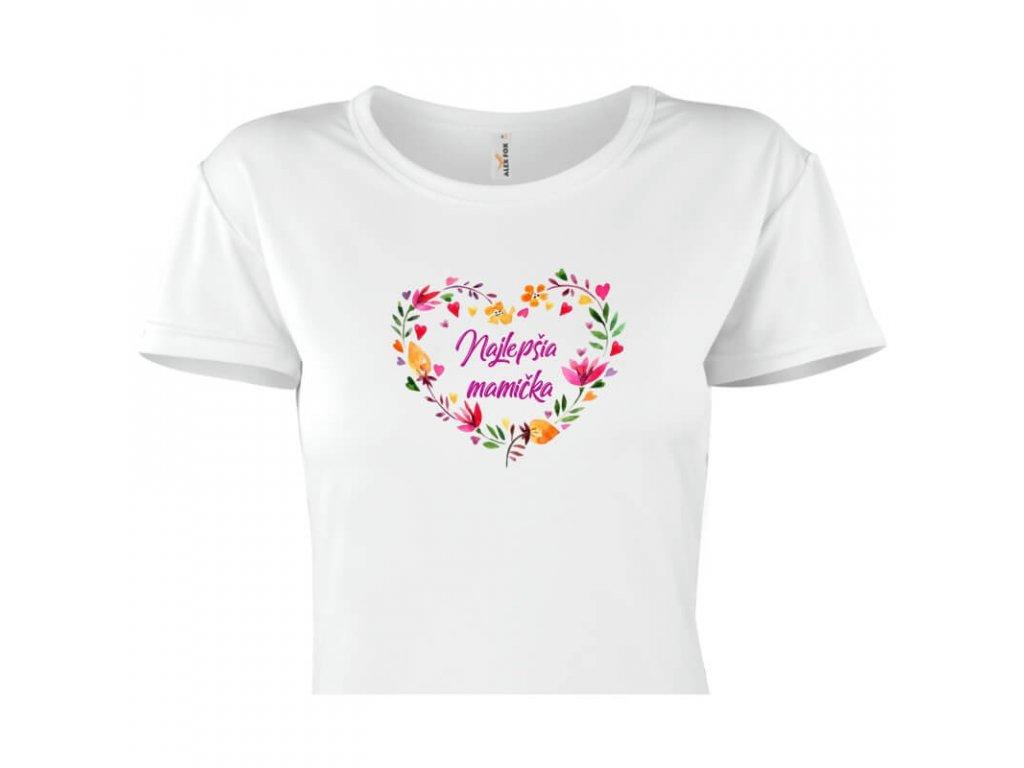 dámske tričko rámik • Najlepšia mamička 1 titulka