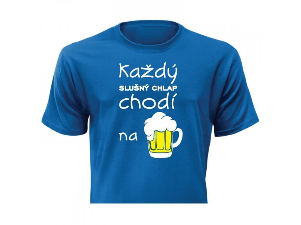 pánske tričko rámik • Slušný chlap modré tričko titulka