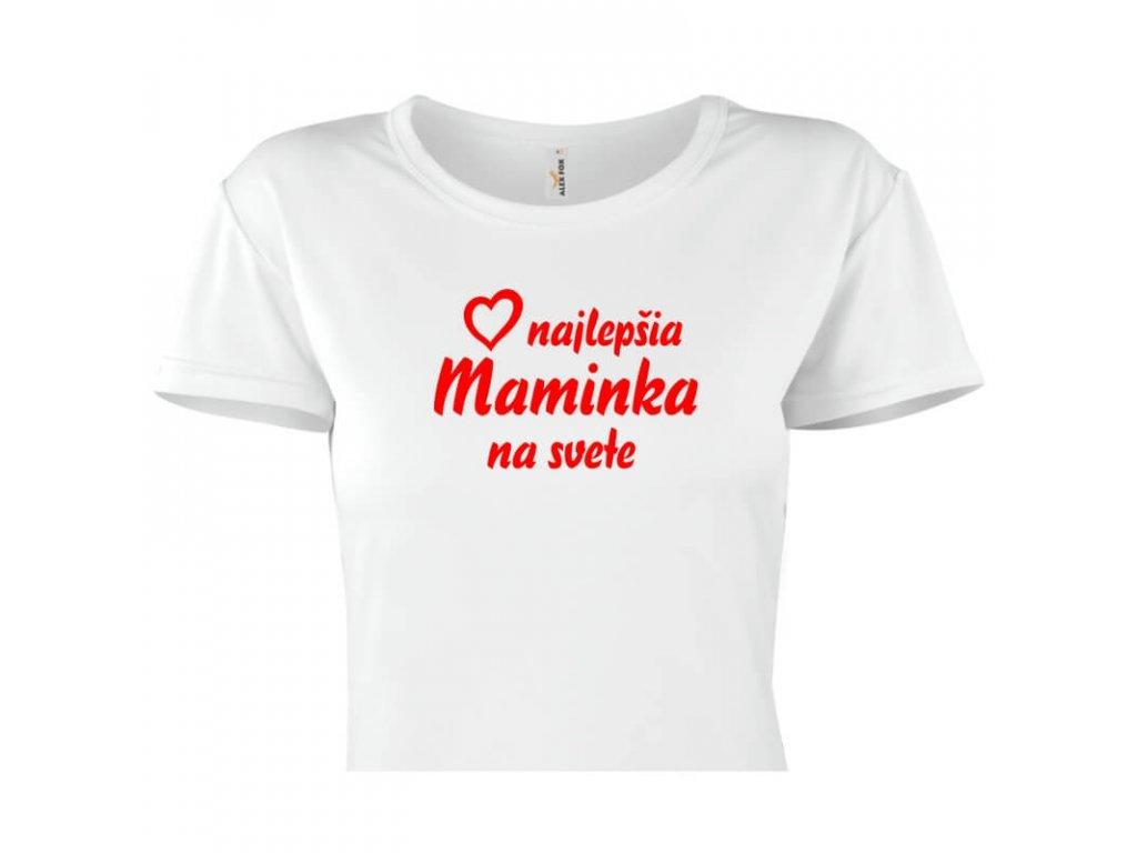dámske tričko rámik • Najlepšia maminka biele tričko titulka