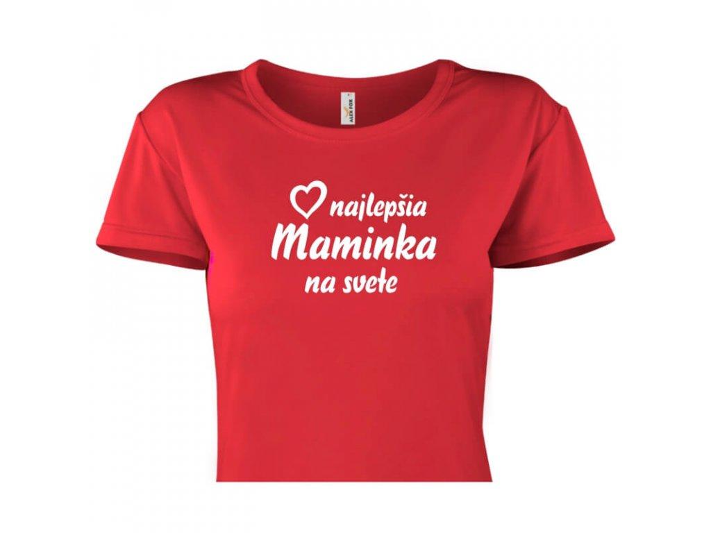 dámske tričko rámik • Najlepšia maminka červené tričko titulka