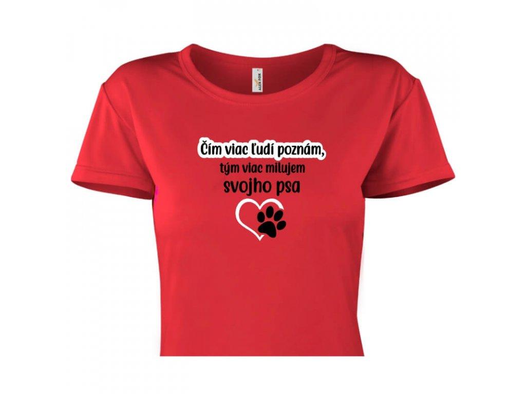 dámske tričko rámik • Pes červené tričko titulka