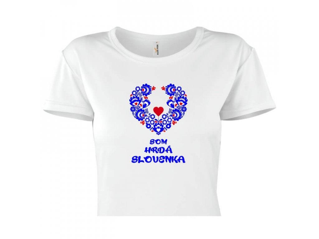 dámske tričko rámik • Hrdá Slovenka titulka