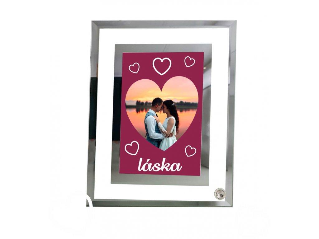 Foto sklo rámik VALENTÍN 4   11x16 cm FOTO pošta