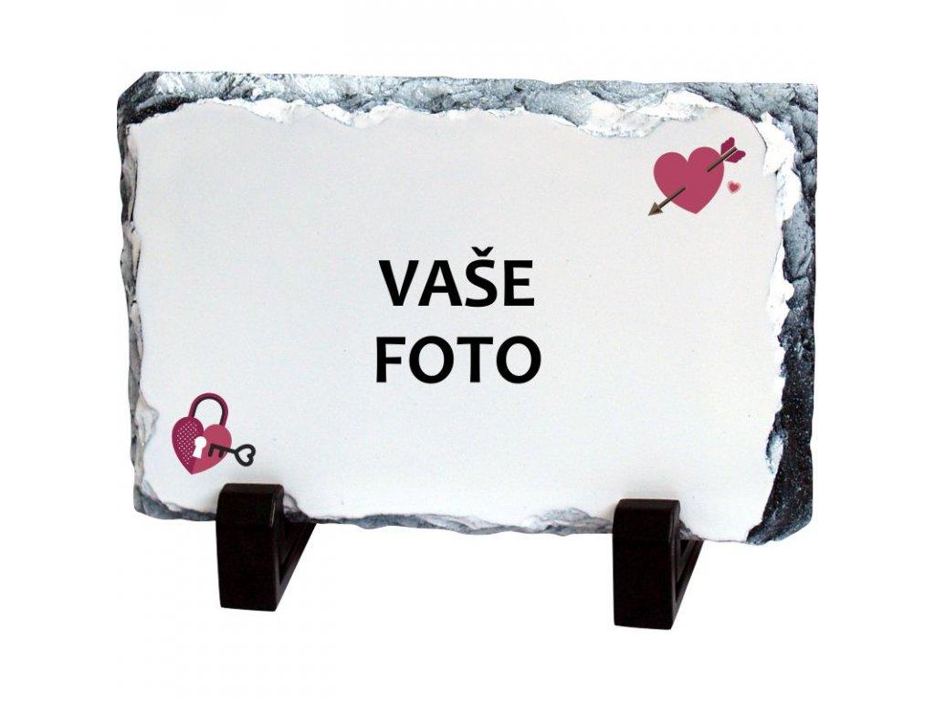 Foto kameň rámik VALENTÍN 1   19x14 cm FOTOpošta