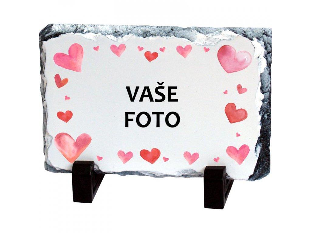 Foto kameň rámik VALENTÍN 3   19x14 cm FOTOpošta