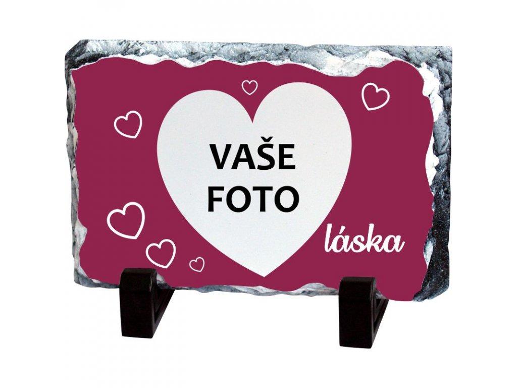 Foto kameň rámik VALENTÍN 4   19x14 cm FOTOpošta