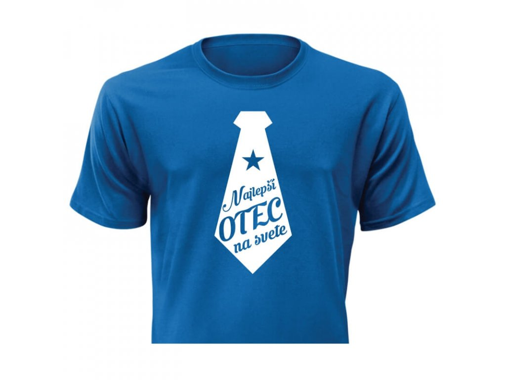 pánske tričko rámik • Najlepší otec modré tričko titulka
