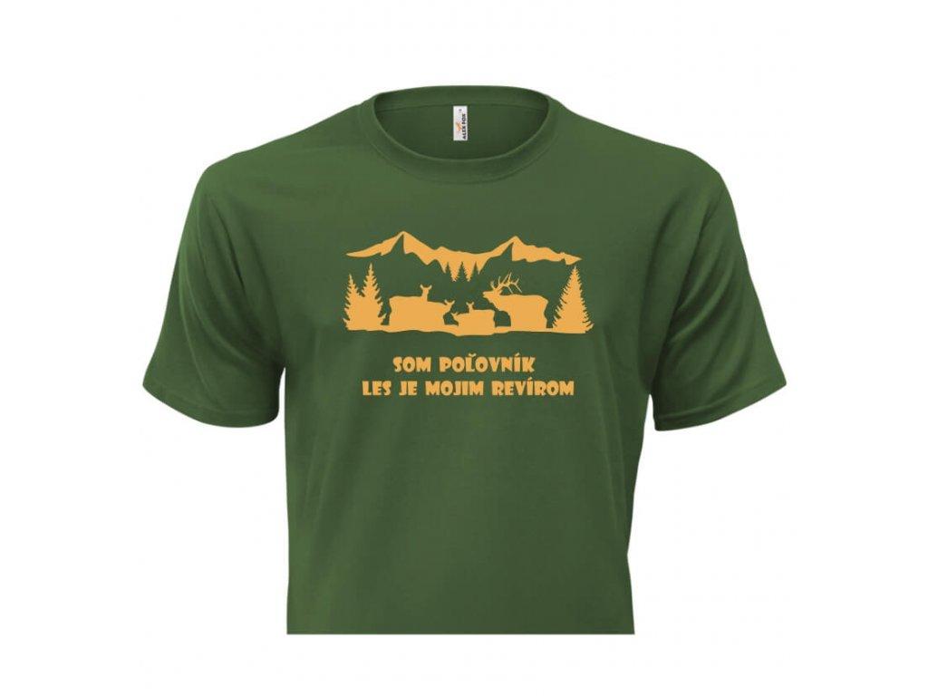 pánske tričko rámik • Poľovník zelené tričko titulka