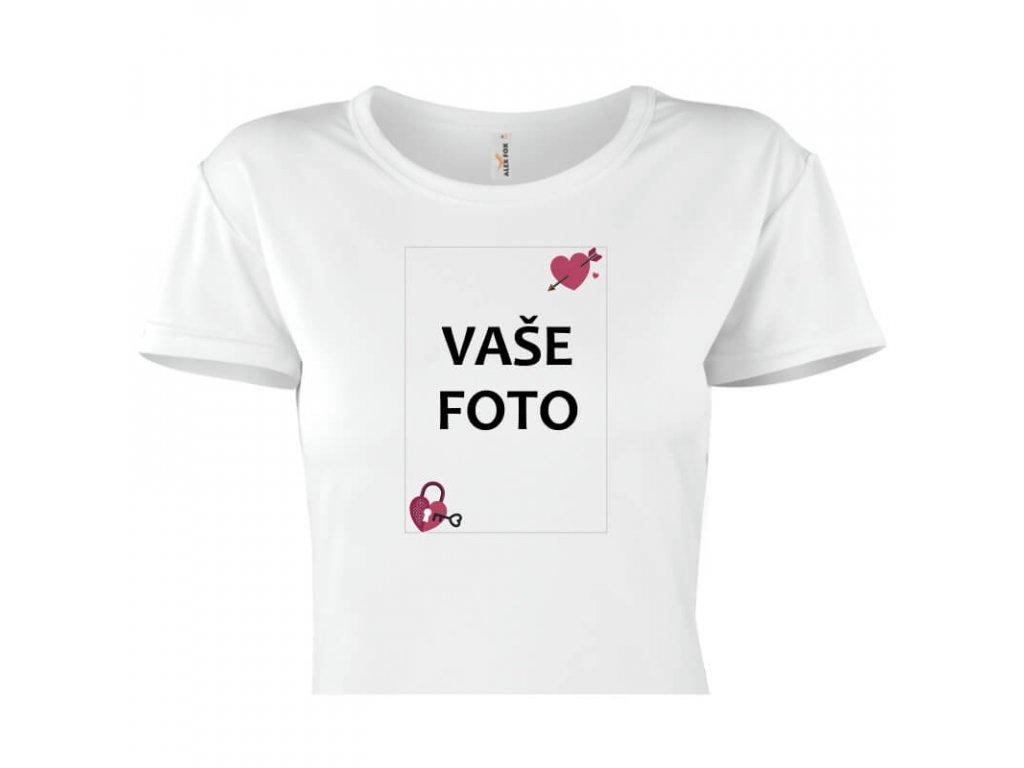 Tričko s fotkou rámik VALENTÍN 1   Dámsky strih FOTOpošta