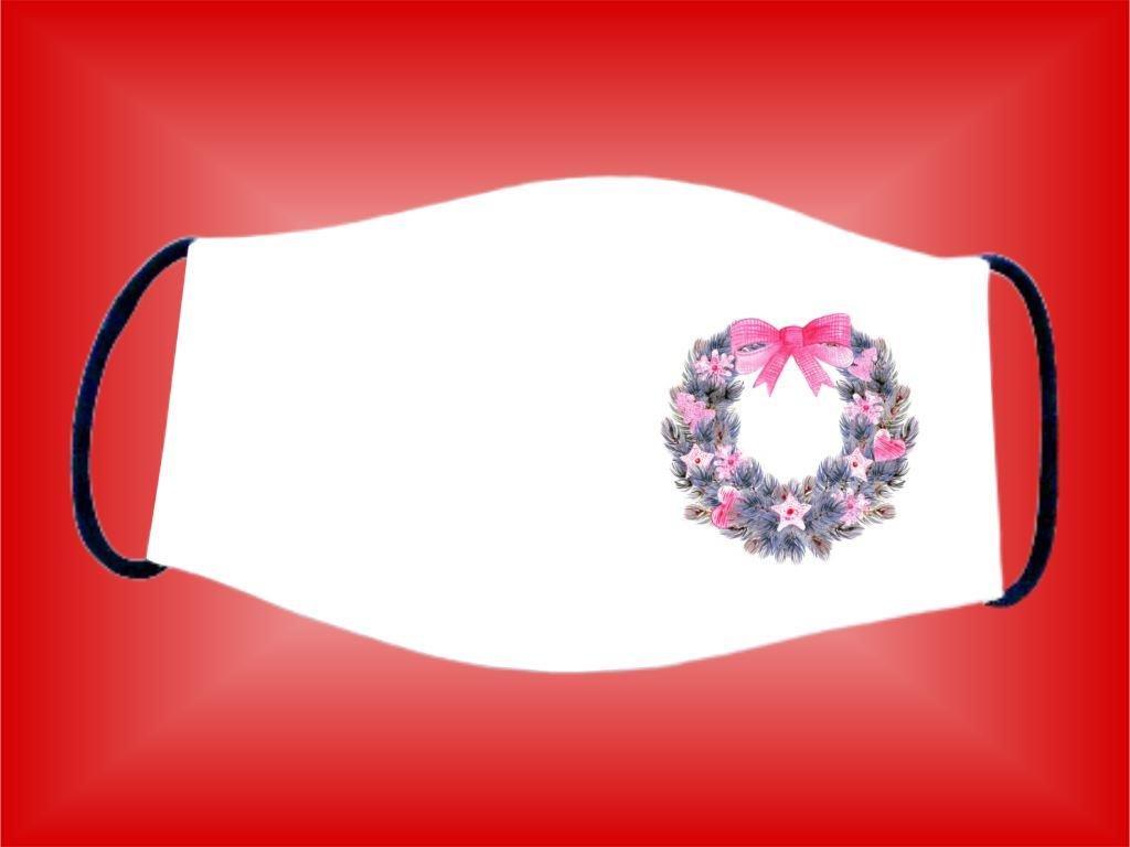 Rúško Veniec ružový bavlnené dvojvrstvové FOTOpošta