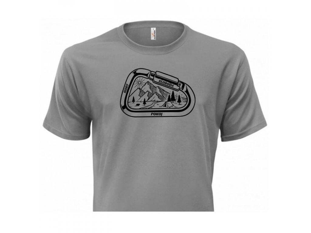 pánske tričko rámik • Hory sivé tričko titulka